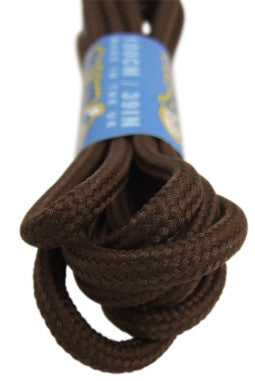 Round Brown 5mm wide Laces