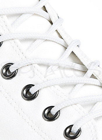 Round White Shoe Boot Laces