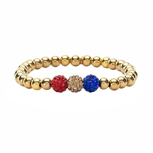 Tri-Color Red Gold Royal Blue Ireland - Gold