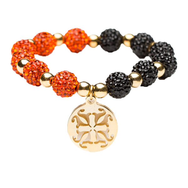 Kaleidoscope Orange/Black Gold