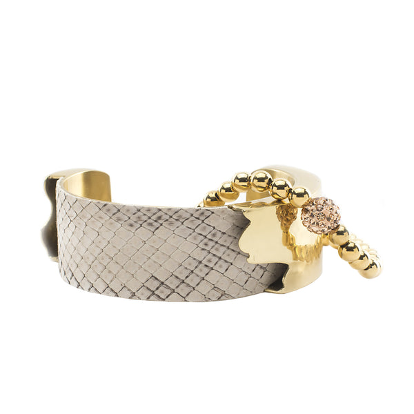 Suede Python Duo - Buff with Gold