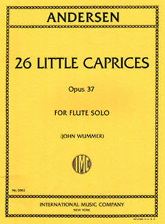 Andersen, J. - 26 Little Caprices, Op. 37 - FLUTISTRY BOSTON