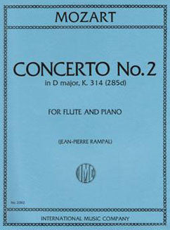 Mozart, W.A. - Concerto No. 2 in D major, K. 314 - FLUTISTRY BOSTON