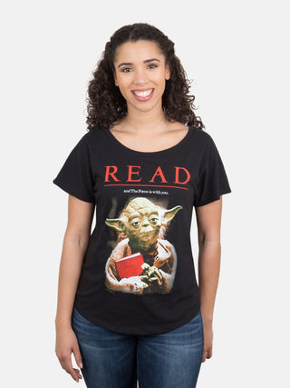 Yoda Star Wars READ Women's Relaxed Fit T-Shirt