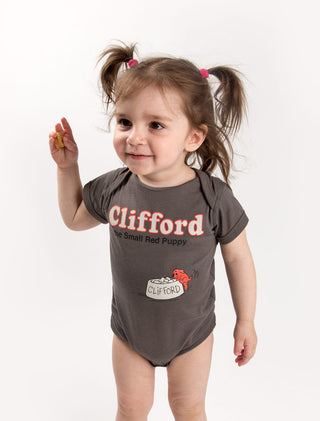 Baby Clifford the Small Red Puppy bodysuit