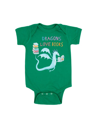 Baby Dragons Love Books bodysuit