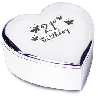 21st Butterflies Heart Trinket