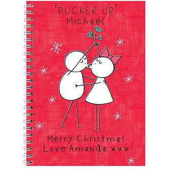 Purple Ronnie Christmas Couple Notebook