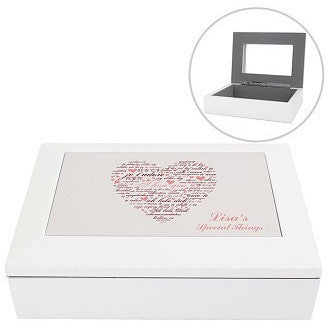 I Love You White Jewellery Box