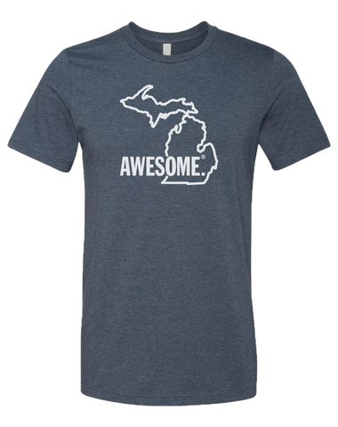 Michigan Awesome State Outline Unisex T-Shirt