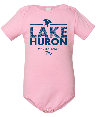 My Great Lake Huron Baby Onesie
