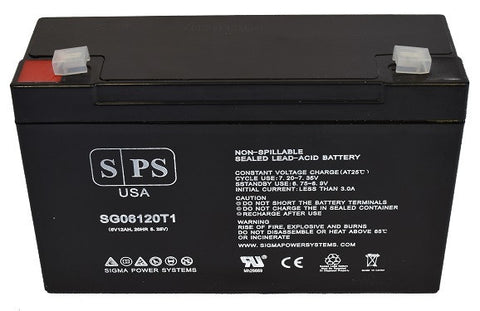 Siltron ELP1020 Emergency Exit light 6V 12Ah Battery