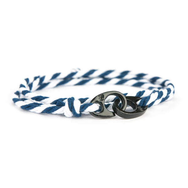 Nautical Black Brummel Navy/White Bracelet