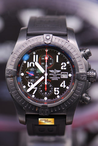 [SOLD] BREITLING SUPER AVENGER 48mm BLACK STEEL CHRONOGRAPH LIMITED EDITION 3000 (NEAR MINT)