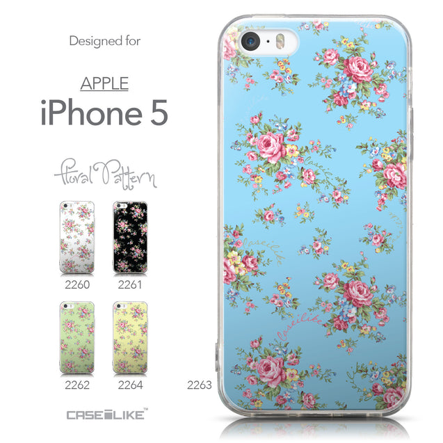 Collection - CASEiLIKE Apple iPhone 5GS back cover Floral Rose Classic 2263