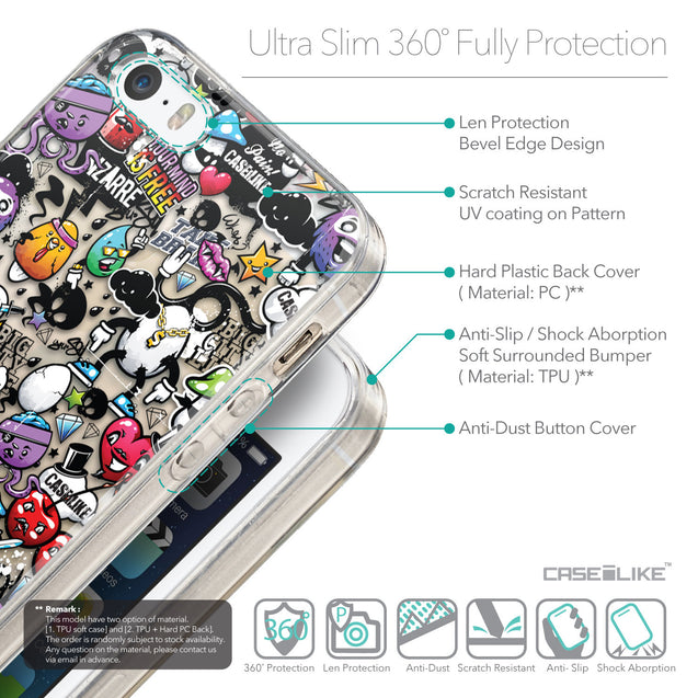 Details in English - CASEiLIKE Apple iPhone 5GS back cover Graffiti 2703