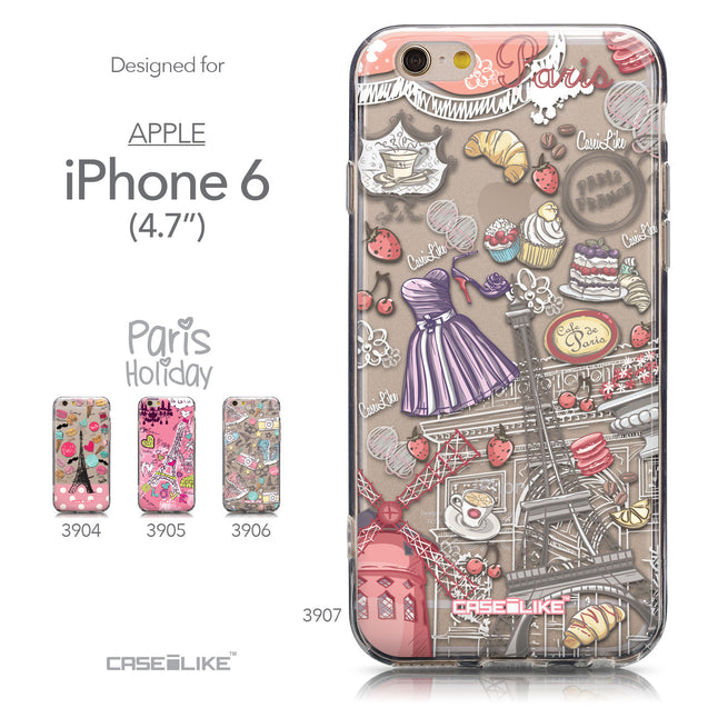 Collection - CASEiLIKE Apple iPhone 6 back cover Paris Holiday 3907