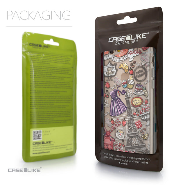 Packaging - CASEiLIKE Apple iPhone 6 back cover Paris Holiday 3907