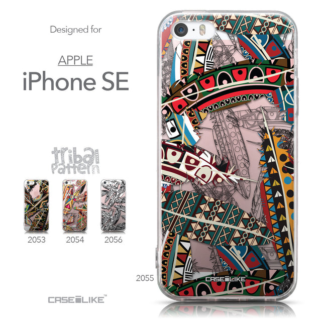 Collection - CASEiLIKE Apple iPhone SE back cover Indian Tribal Theme Pattern 2055