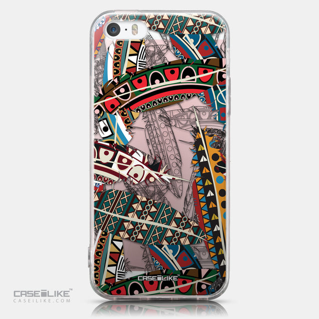 CASEiLIKE Apple iPhone SE back cover Indian Tribal Theme Pattern 2055