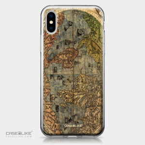 Apple iPhone X case World Map Vintage 4608 | CASEiLIKE.com