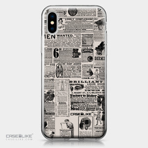 Apple iPhone X case Vintage Newspaper Advertising 4818 | CASEiLIKE.com