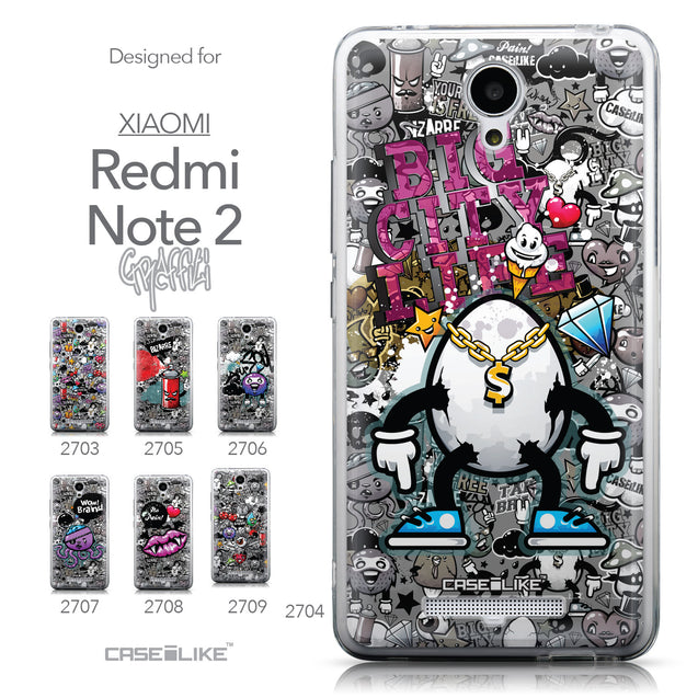 Collection - CASEiLIKE Xiaomi Redmi Note 2 back cover Graffiti 2704
