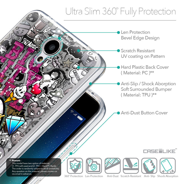 Details in English - CASEiLIKE Xiaomi Redmi Note 2 back cover Graffiti 2704