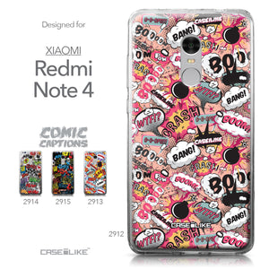 Xiaomi Redmi Note 4 case Comic Captions Pink 2912 Collection | CASEiLIKE.com