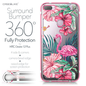 HTC Desire 12 Plus case Tropical Flamingo 2239 Bumper Case Protection | CASEiLIKE.com
