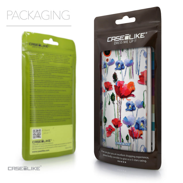 Packaging - CASEiLIKE HTC Desire 820 back cover Indian Line Art 2061