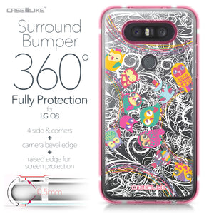 LG Q8 case Owl Graphic Design 3316 Bumper Case Protection | CASEiLIKE.com