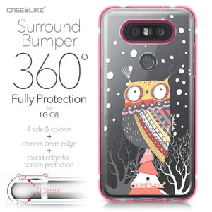 LG Q8 case Owl Graphic Design 3317 Bumper Case Protection | CASEiLIKE.com