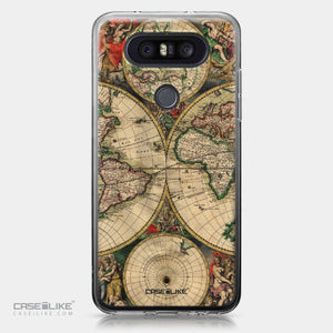 LG Q8 case World Map Vintage 4607 | CASEiLIKE.com