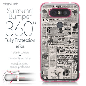 LG Q8 case Vintage Newspaper Advertising 4818 Bumper Case Protection | CASEiLIKE.com
