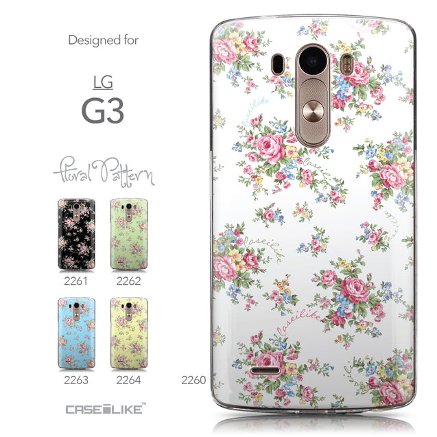 Collection - CASEiLIKE LG G3 back cover Floral Rose Classic 2260
