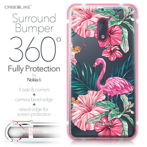 Nokia 6 case Tropical Flamingo 2239 Bumper Case Protection | CASEiLIKE.com