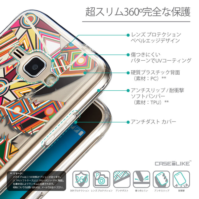 Details in Japanese - CASEiLIKE Samsung Galaxy J1 (2016) back cover Indian Tribal Theme Pattern 2054
