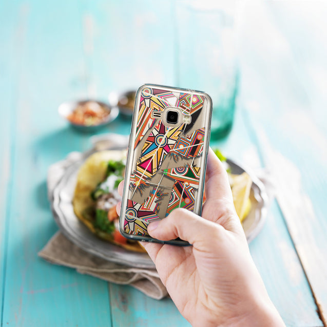 Share - CASEiLIKE Samsung Galaxy J1 (2016) back cover Indian Tribal Theme Pattern 2054