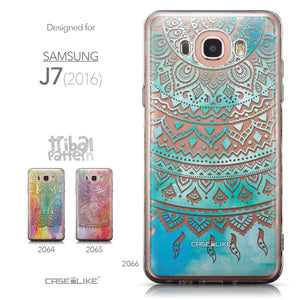 Collection - CASEiLIKE Samsung Galaxy J7 (2016) back cover Indian Line Art 2066