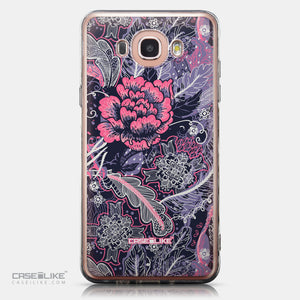 CASEiLIKE Samsung Galaxy J7 (2016) back cover Vintage Roses and Feathers Blue 2252