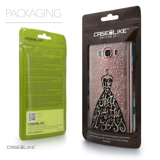 Packaging - CASEiLIKE Samsung Galaxy J7 (2016) back cover Indian Tribal Theme Pattern 2053