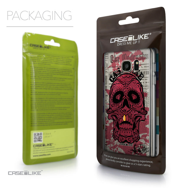 Packaging - CASEiLIKE Samsung Galaxy S7 back cover Art of Skull 2523