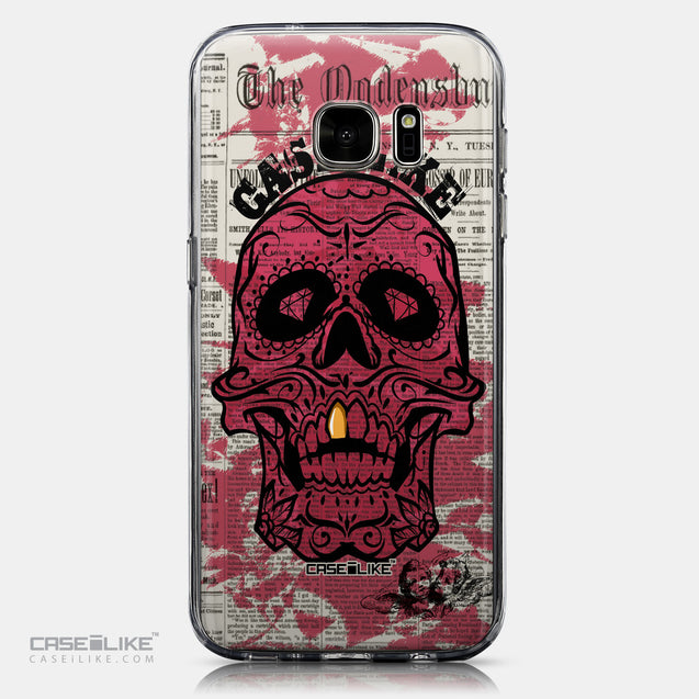 CASEiLIKE Samsung Galaxy S7 back cover Art of Skull 2523