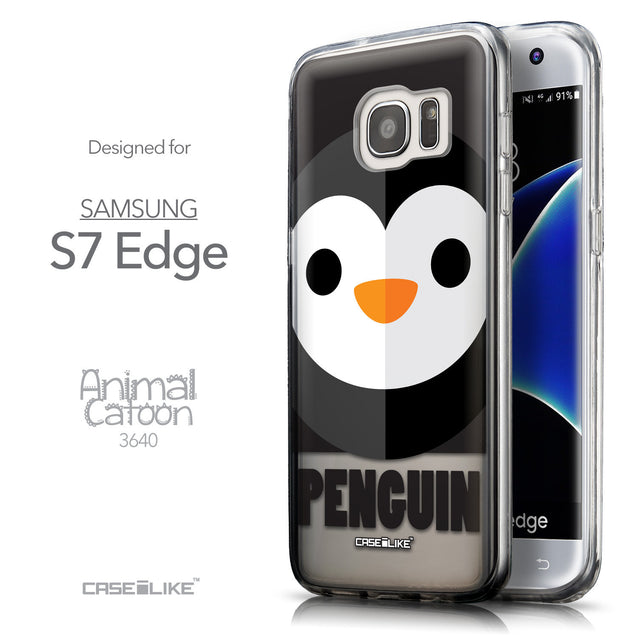 Front & Side View - CASEiLIKE Samsung Galaxy S7 Edge back cover Animal Cartoon 3640