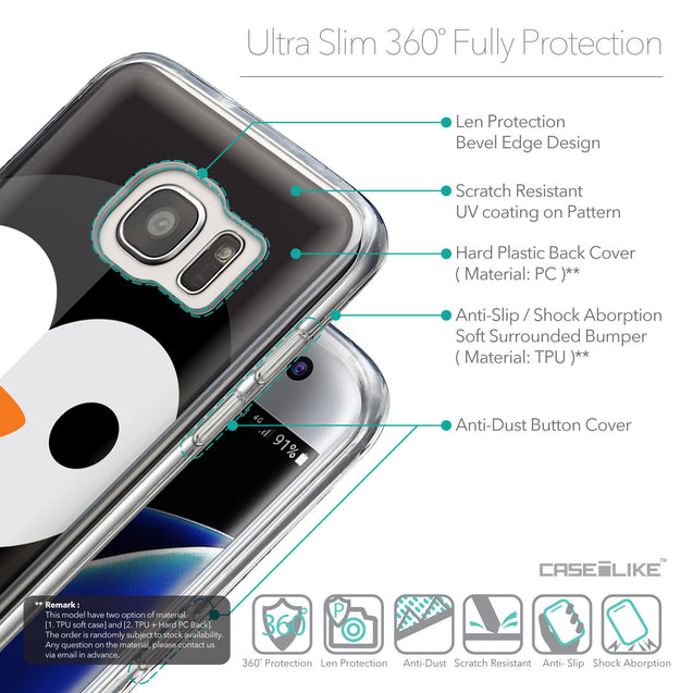 Details in English - CASEiLIKE Samsung Galaxy S7 Edge back cover Animal Cartoon 3640