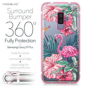 Samsung Galaxy S9 Plus case Tropical Flamingo 2239 Bumper Case Protection | CASEiLIKE.com