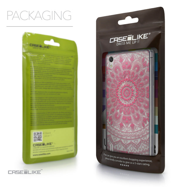 Packaging - CASEiLIKE Huawei Ascend P7 back cover Indian Line Art 2062