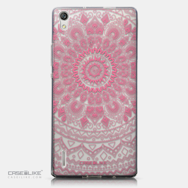 CASEiLIKE Huawei Ascend P7 back cover Indian Line Art 2062