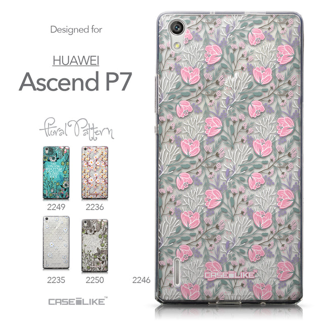 Collection - CASEiLIKE Huawei Ascend P7 back cover Flowers Herbs 2246